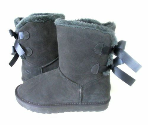 NEW WOMEN SO BRAND CLASSIC TOW BOWS BOOT GREY 3453 ORIGINAL