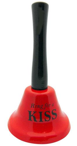 Bague pour Kiss Bell Table Rouge Amusant Hen Stag Party Cadeau geste Blague ROMANTIQUE signe
