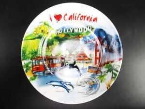 California-Porcelain-Plate-USA-in-Exclusive-Photo-Gift-Box-Collector-Plate