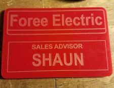 foree electric nametag - shaun of the dead