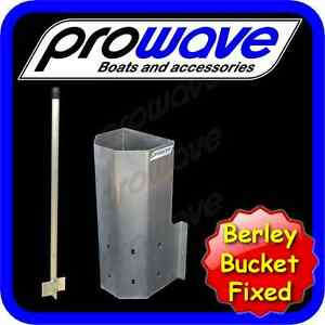 Berley bucket, alloy with muncher, fixed 45mm step out