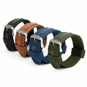 18mm 20mm 22mm 24mm Quick Release Military Canvas Nylon Watch Band Strap