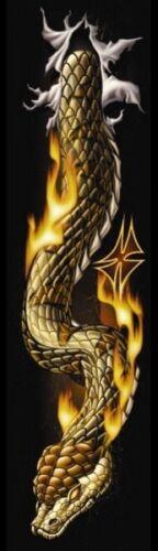 AUFKLEBER RIP N TEAR SNAKE SCHLANGE FLAMMEN AIRBRUSH XL 42x14 CM STICKER TANK !