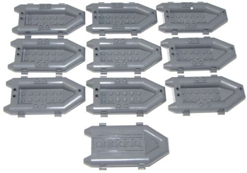 LEGO LOT OF 10 DARK BUISH GREY MINIFIGURE RAFTS RESQUE  BOATS PIECES