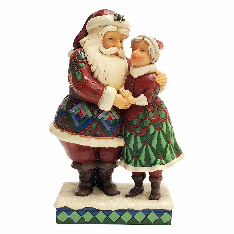 Estatuilla Enesco Jim Shore Santa & Mrs. Claus