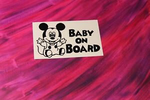 MICKEY-BABY-ON-BOARD-STICKER-DECAL-BABY-IN-CAR-DISNEY-MINNIE-Made-in-USA