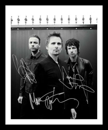 MUSE AUTOGRAPHED SIGNED /& FRAMED PP POSTER PHOTO