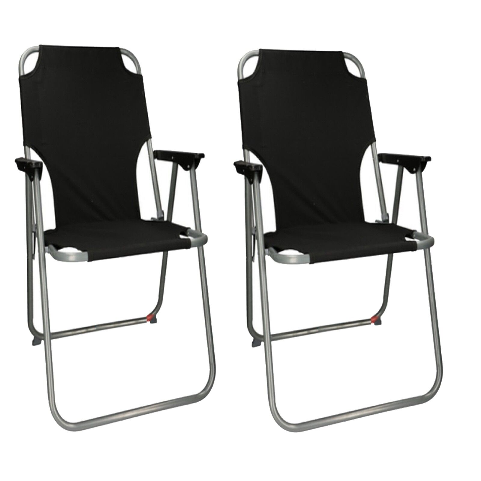 2x Outdoor Portable  Folding Chair Camping Hiking Beach Seat Stool For BBQ Picnic  free shipping & exchanges.