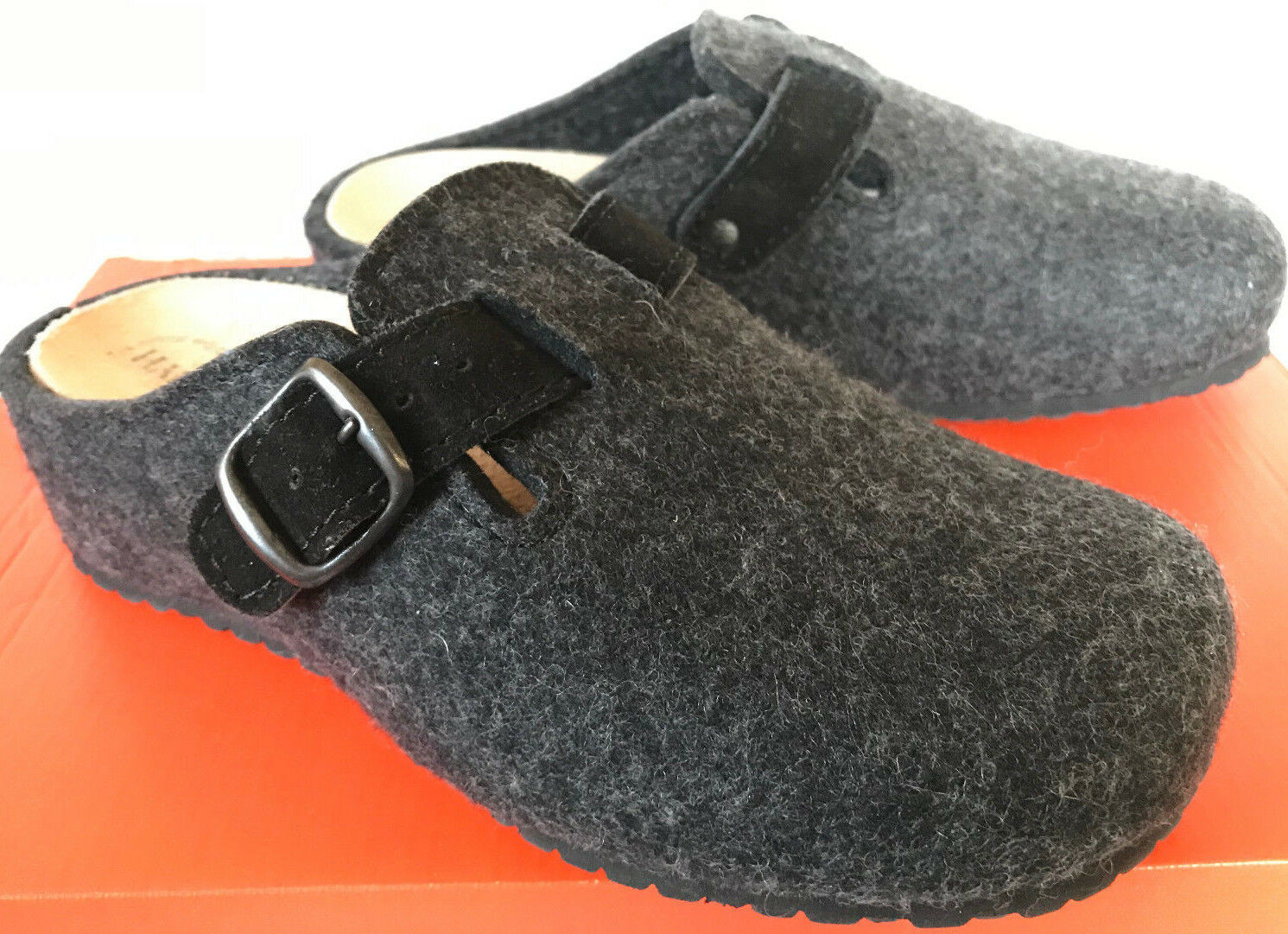 bb9fd34b Haflinger Hebilla obstruir Grizzly de Lana Slip-on diapositivas Zuecos  Zapatos para mujer 7.5 Berta npizei2926-Zapatos confort