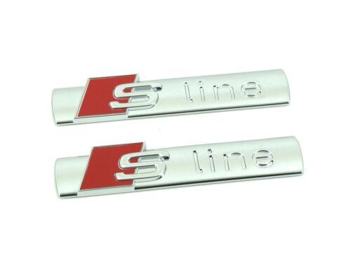 2 x Genuine New AUDI S LINE WING BADGE for A1 A2 A3 A4 A5 A6 A7 A8 Q1 Q3 Q5 Q7