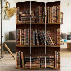 Paravento-Separe-3-Pannelli-Stampa-Fronte-Retro-Libreria-Antic-Divisorio-180x120