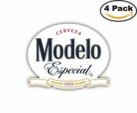 Modelo Cerveza Especial Mexican Beer Decal Diecut Sticker 4 Stickers