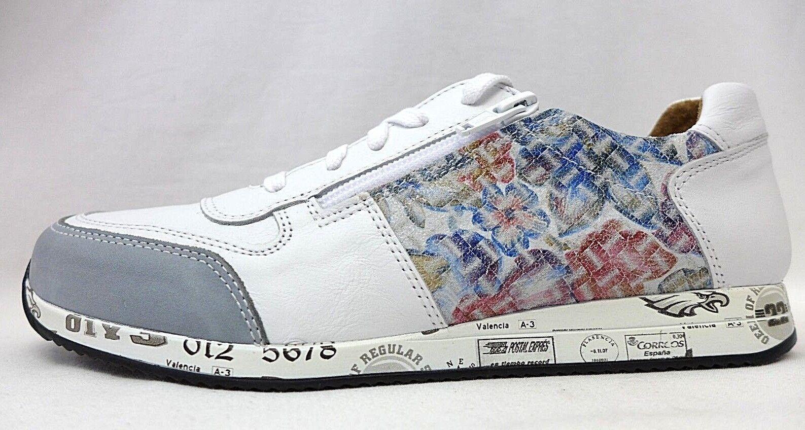 Dyou Sneaker Damenschuhe weiss Größe 39 41 46715 Echtes Leder lose Einlage NEU