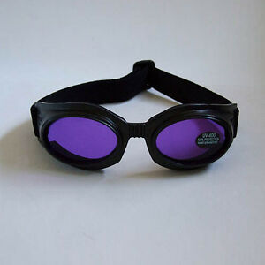 New-80s-Cyber-Gothic-Goth-Punk-Industrial-Raver-Purple-Lens-Black-Goggles