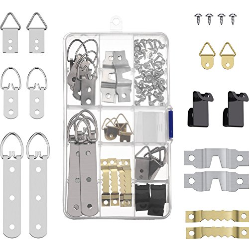 68 Pieces Photo Frame Hanging Hooks Kit Picture Frame Hooks Frame Picture Hanger