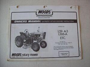 Details about Original Woods ~ L59 A-3 L306-A International A 100 130 ~  Operators Parts Manual
