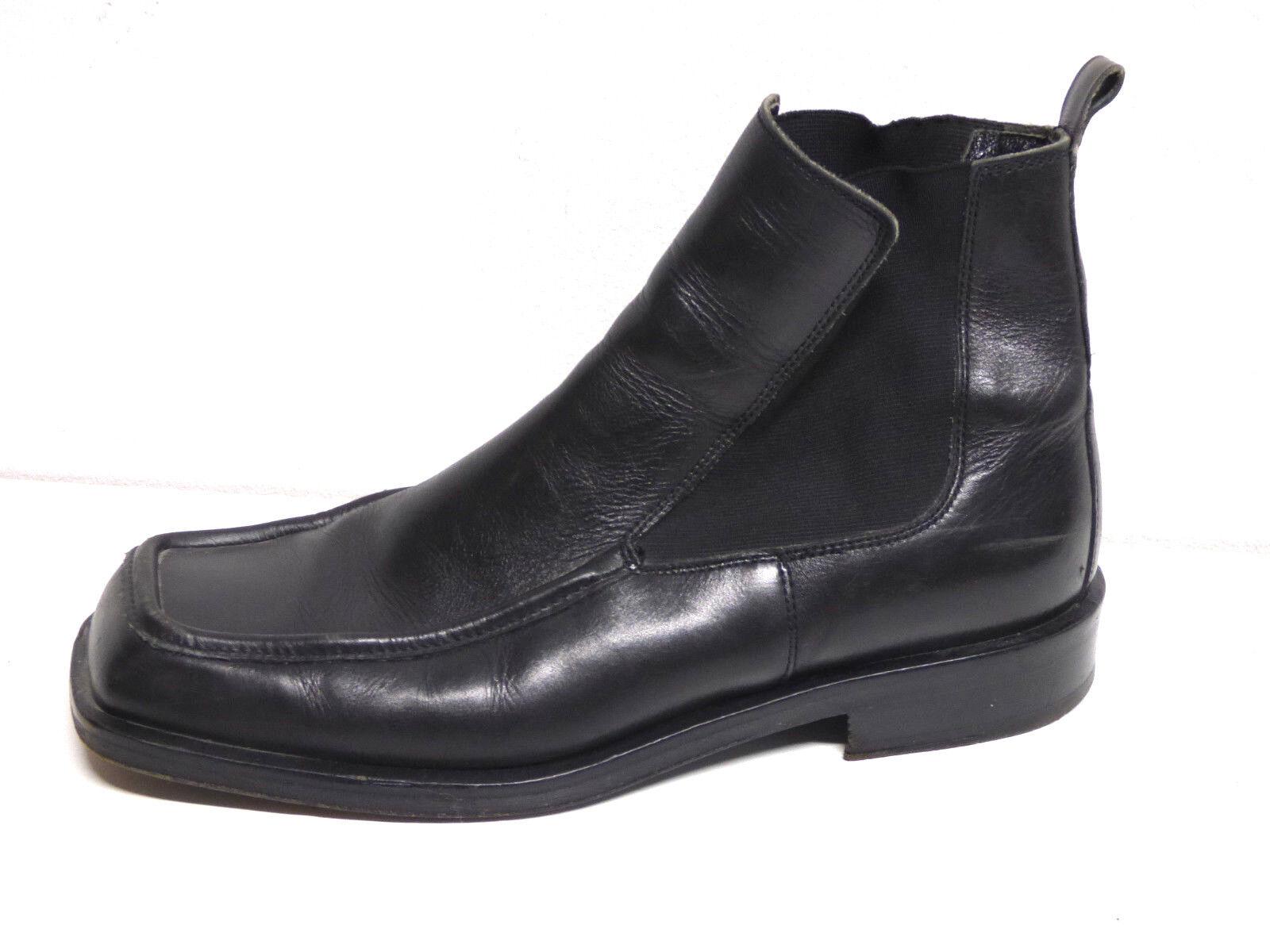 KENZO HERREN LEDER SCHUHE SCHUHE SCHUHE Stiefel GR 43,5 - DE   SCHWARZ & TREND    ( P 5671 )  bis zu 80% sparen