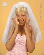 White Brides Veil Hen Night Party Bride Fancy Dress