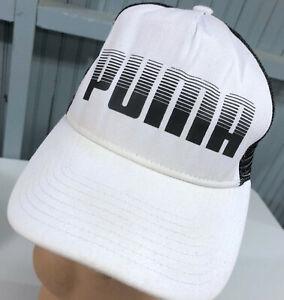 73ac5d36b07 Image is loading PUMA-White-Snapback-Baseball-Cap-Hat