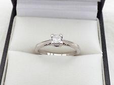 acb7f3058 item 2 H Samuel 18ct White Gold Princess cut Diamond solitaire ring. 0.25ct  sz K - K.5 -H Samuel 18ct White Gold Princess cut Diamond solitaire ring.