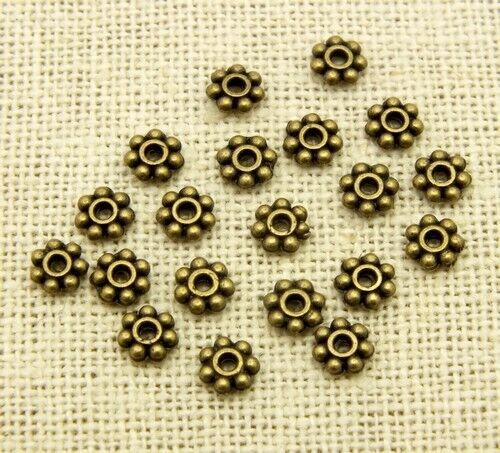 5mm Antik colores 20 metallspacer aprox