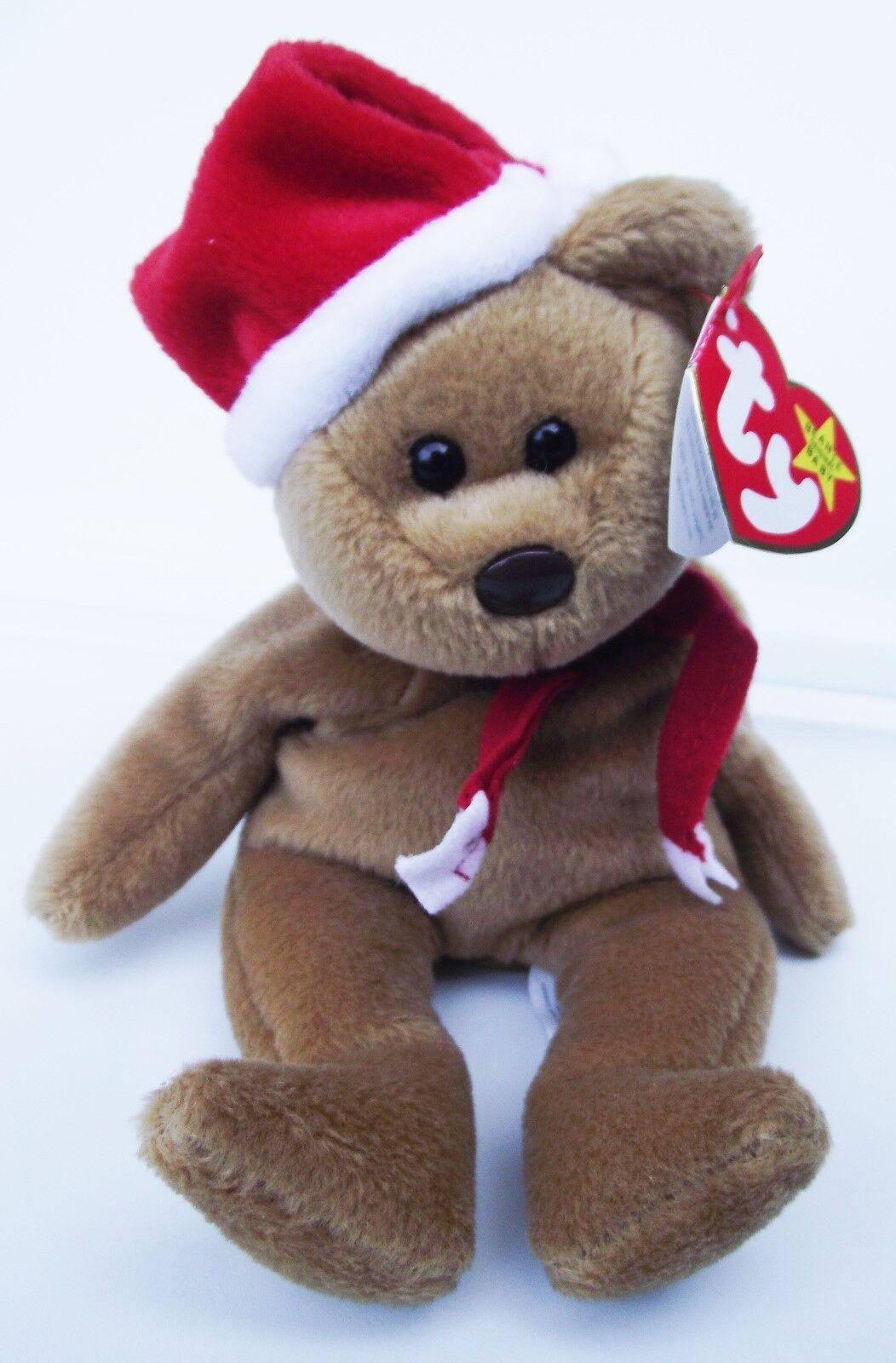 Ty beanie baby 1997 weihnachten teddybär pvc - 4. (5. generation hintern tag neue hängen