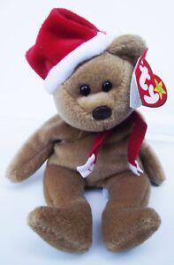 TY BEANIE BABY 1997 CHRISTMAS TEDDY BEAR PVC 4TH GEN HANG 5TH GEN ... dc938126ce2e