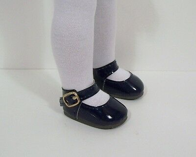 "Patent Blue Mary Jane Shoes 14/"" Doll Clothes Fit American Girl Wellie Wishers"
