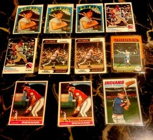 1972-1977-TOPPS-BOOG-POWELL-Orioles-Indians-11-Card-Lot