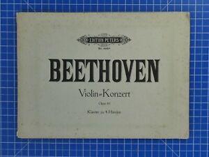 Edition-Peters-No-9924-Beethoven-Violin-Konzert-Op-61-Klavier-zu-4-Haenden-B18898