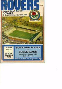 Blackburn-Rovers-v-Sunderland-1978-79-division-2