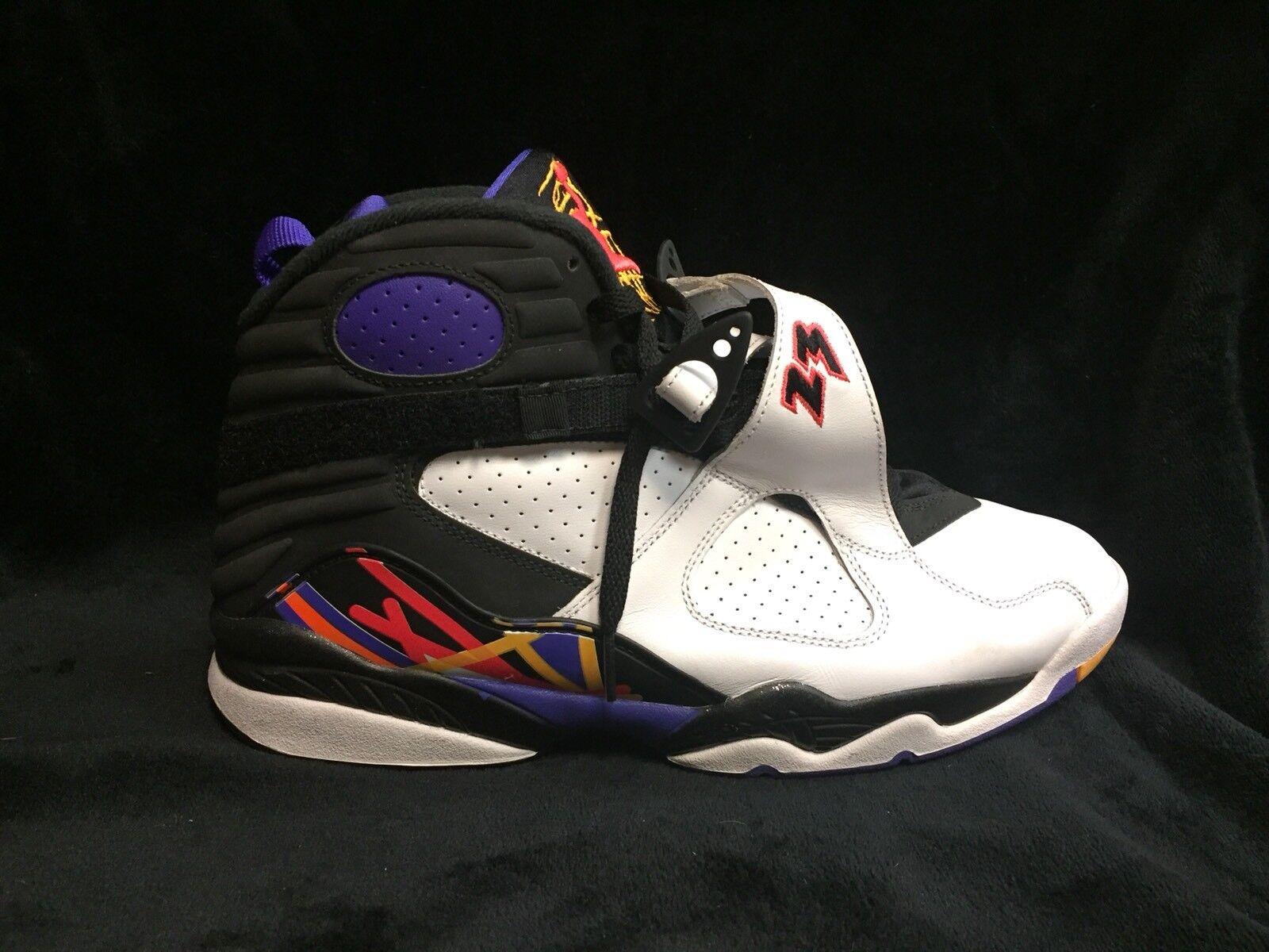 Nike Air Jordan 8 Retro Three-Peat Men's Sneakers Comfortable Brand discount