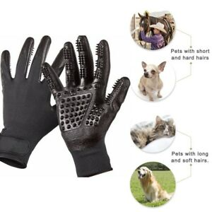 Pet-Dog-Horse-Grooming-Gloves-Brush-Hair-Remover-DeShedding-Tool-Clean-Mitten