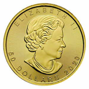 2020 Canada 1 oz Gold Maple Leaf $50 Coin ROYAL CANADIAN MINT .9999 PURE GOLD