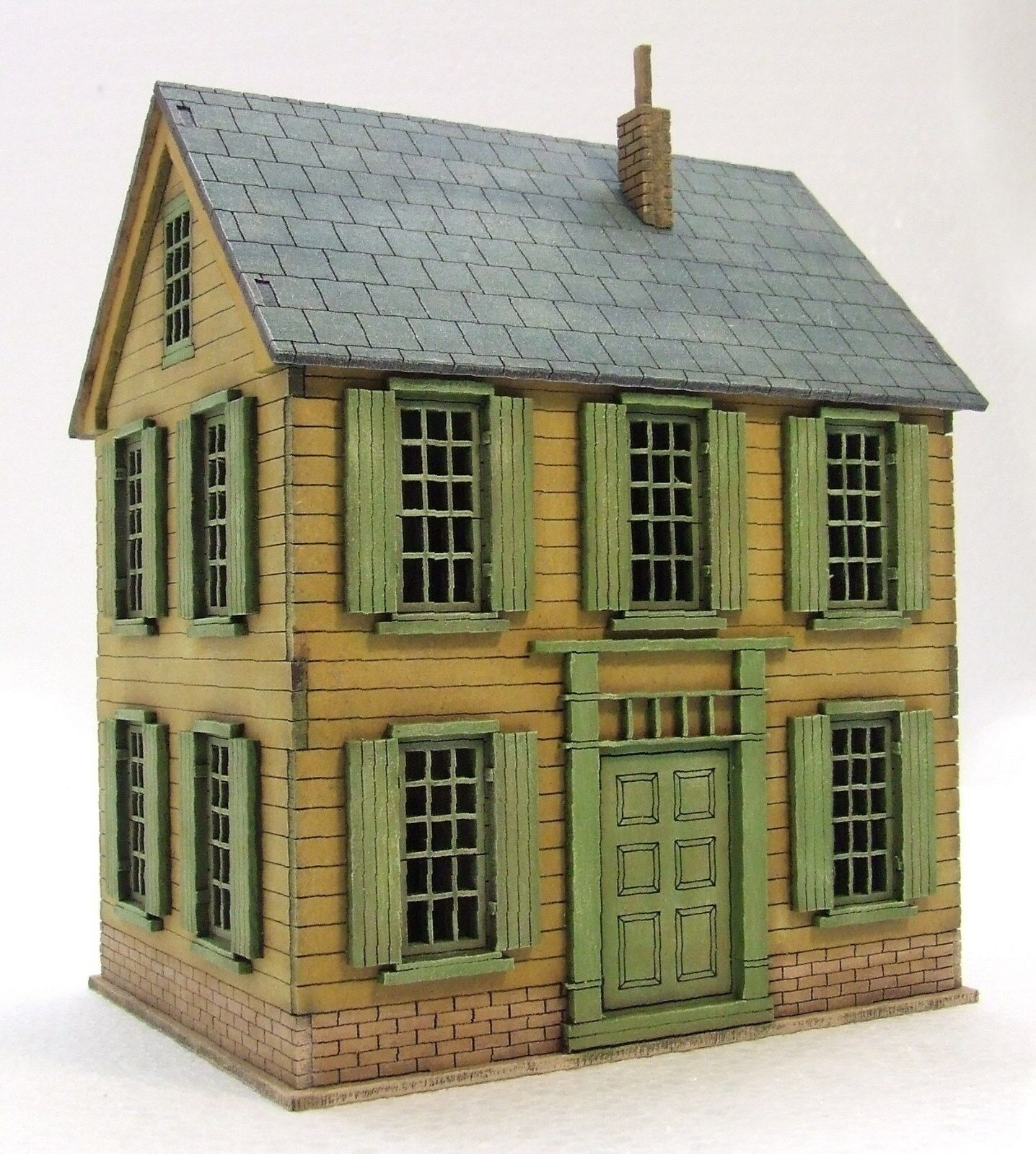 PLANTATION HOUSE PAINTED BUILDING MDF & BUILT FULLY 28mm