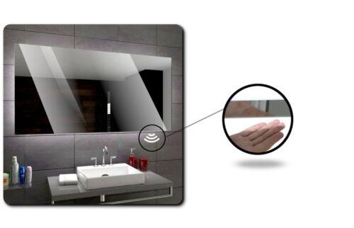 WIEDEN Led Badspiegel Wandspiegel TouchSensorSchminkSpiegelHeizmatte