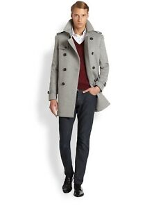 Details about NWT BURBERRY LONDON MENS DOUBLE BREASTED TRENCH COAT JACKET US 46 EU 56