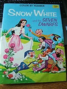 Vintage SNOW WHITE AND THE SEVEN DWARFS COLOR BY NUMBER ...