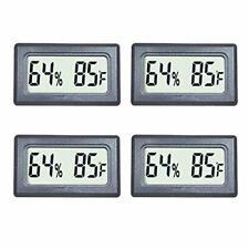 Veanic 4 Pack Mini Digital Thermometer Hygrometer Meters Gauge Indoor Large