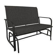 Gardenkraft 15150 al aire libre de doble asiento silla Planeador de textilene-Carbón