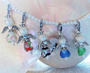 Perlen-Engel-DIY-Bastelsets-10-20-1-Herz-Lampwork-Perlen-Gluecksbringer