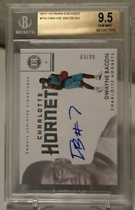 2017-18-Panini-Encased-RC-Scripted-Auto-159-Dwayne-Bacon-63-99-BGS-9-5-INVEST