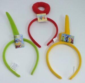 TV-Telly-Tubbies-Shaped-Felt-Headband-Green-Red-Yellow
