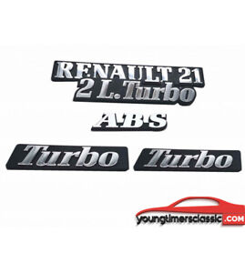 Kit-de-5-Monogrammes-RENAULT-21-2L-Turbo-ABS