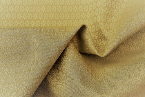 SILK WOOL LIGHT SAND BEIGE NEAT GEOMETRIC FLORAL WOVEN DESIGN MADE IN ITALY E147