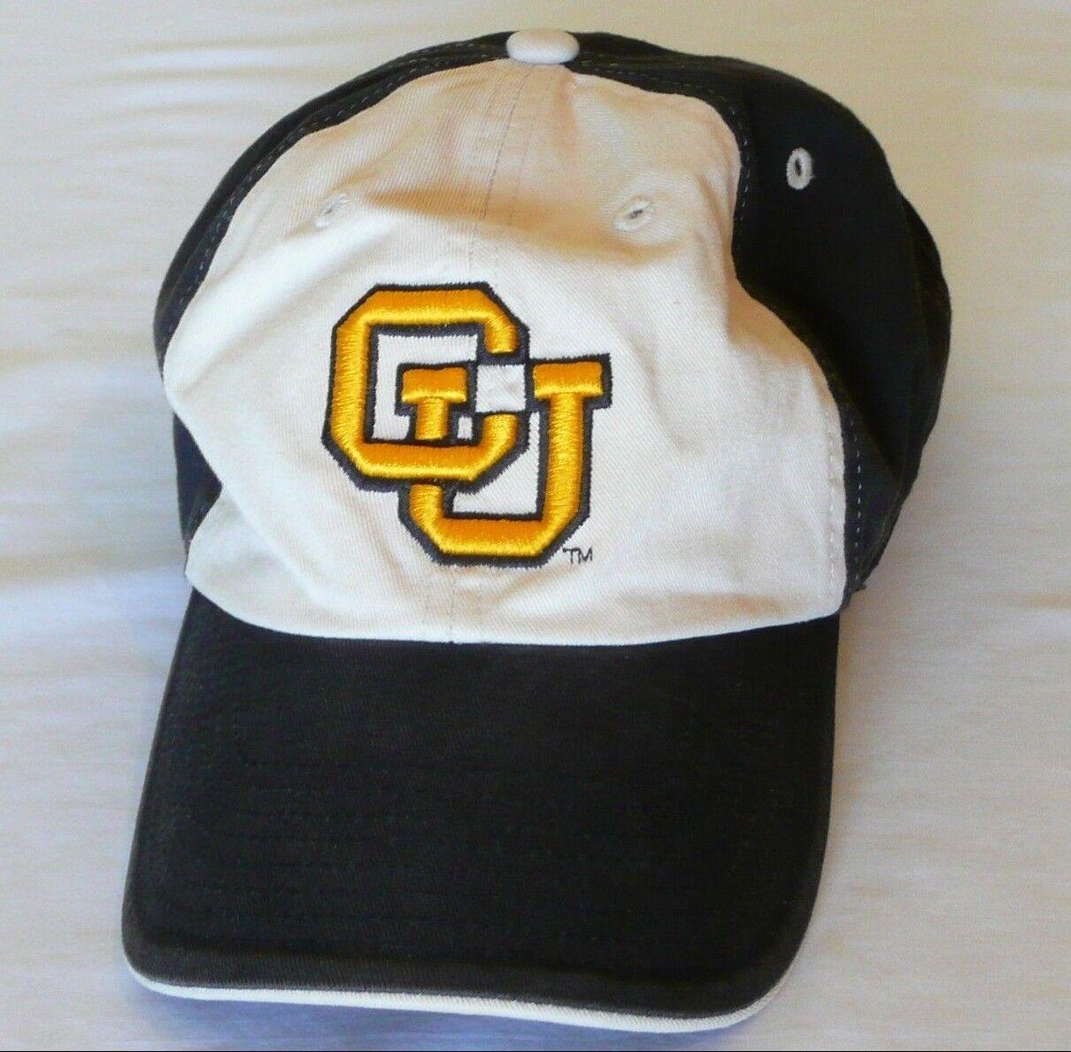 Colorado University Tan CU Hat Baseball Cap Black Tan University Gold Adjustable Buffaloes a11b2c