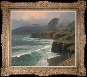 Hand-painted-Oil-painting-original-Art-Landscape-Seascape-on-canvas-20-034-x24-034
