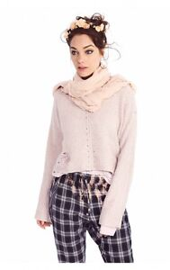In Pink Sweater Pout Couture Nwt Crop Terra Wildfox OWCqnSH