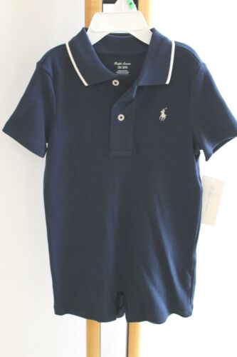 Ralph Lauren Polo Baby Boy/'s Boy Size 12 Months NWT NEW Outfit 1PC Blue Navy