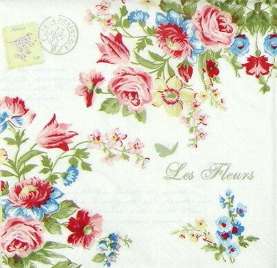 4x Paper Napkins for Decoupage Craft Vintage Le Jardin Secret